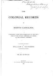 The Colonial Records of North Carolina: Volume 3