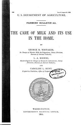 The Care of Milk and Its Use in the Home
