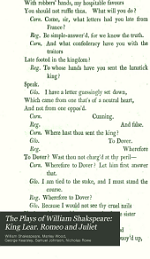 The Plays of William Shakspeare: King Lear. Romeo and Juliet