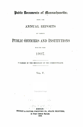 Public Documents of Massachusetts: Volume 5