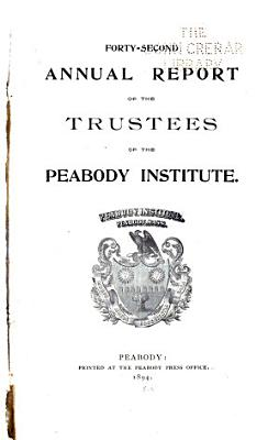 Annual Report Of The Trustees Of The Peabody Institute Of Peabody