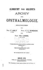 Albrecht von Graefes Archiv für Ophthalmologie: Band 24