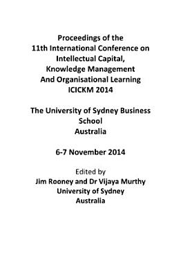 ICICKM2014 Proceedings of the 11th International Conference on Intellectual Capital  Knowledge Management and Organisational Learning PDF