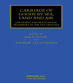 Carriage of Goods by Sea  Land and Air PDF