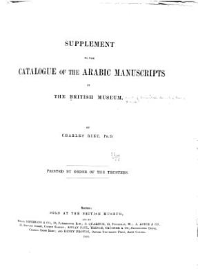 Supplement to the Catalogue of the Arabic Manuscripts in the British Museum PDF