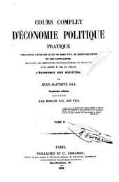 Cours complet d'économie politique pratique, 2
