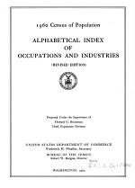 Alphabetical Index of Occupations and Industries