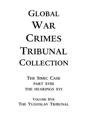 Global War Crimes Tribunal Collection  The Rwanda Tribunal