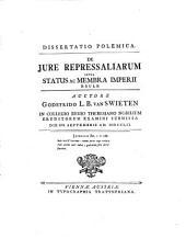 Dissertatio polemica de jure repressaliarum inter status ac membra imperii exule