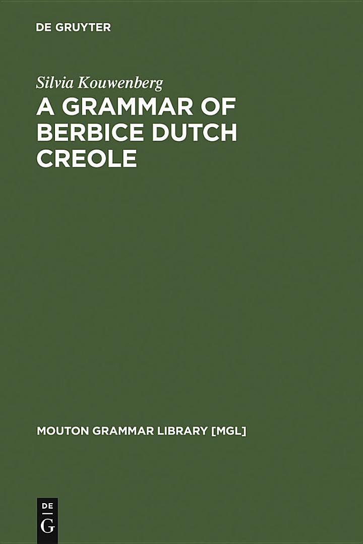 A Grammar of Berbice Dutch Creole