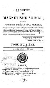 Archives du magnétisme animal: Volume 8