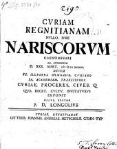 Cvriam Regnitianam Nvllo Ivre Nariscorvm Cognominari