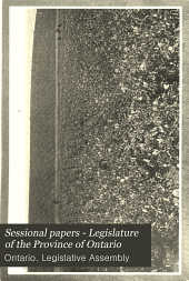 Sessional Papers - Legislature of the Province of Ontario: Volume 11