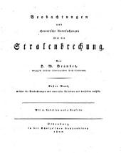 Beobachtungen und theoretische Untersuchungen über die Stralenbrechung: mit 11 Tabell. u. 2 Kpf