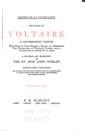 The Works of Voltaire  The Maid of Orleans  La Pucelle d Orl  ans