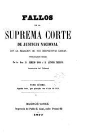 Fallos de la Corte suprema de justicia de la nación: con la relación de sus respectivas causas, Volumen 16