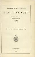 Annual Report of the Public Printer     PDF