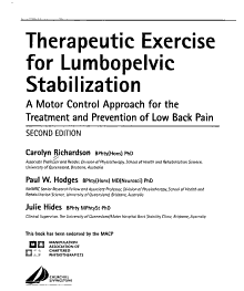 Therapeutic Exercise for Lumbopelvic Stabilization PDF