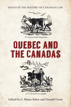 Essays in the History of Canadian Law PDF