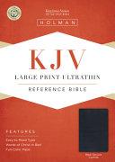 KJV Large Print Ultrathin Reference Bible  Black Genuine Leather PDF