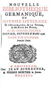 Nouvelle bibliothèque germanique [formerly Journal littéraire d'Allemagne, de Suisse et du Nort].