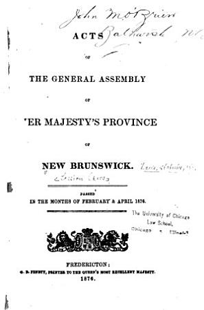 Acts of the General Assembly PDF