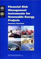 Financial Risk Management Instruments for Renewable Energy Projects PDF