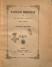 Parnaso modenese dal secolo 15. al 18. scelto e ordinato da Antonio Peretti e Antonio Cappelli