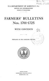 Farmers' Bulletin: Issues 1701-1725
