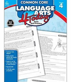 Common Core Language Arts 4 Today  Grade 4 PDF