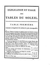 Tables astronomiques