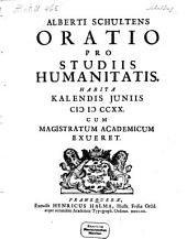 Oratio pro studiis humanitatis