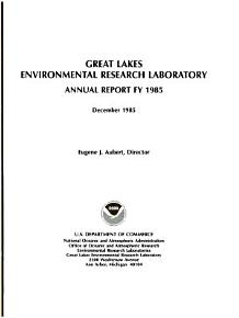 Annual Report   Great Lakes Environmental Research Laboratory PDF