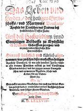 ¬Das Leben und Leyden, deß heiligen Ertzbischoffs, und Martyrers Bonifacii ...