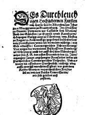 Des Durchleuchtigen Hochgebornen Fursten vnd Herrn, Herrn Albrechts des Jüngern Marggrauen zu Brandenburg ... Rechtmessige, gegründte beschwerden, vnd Protestation, wider die vermeinte nichtige, mit Gelt erkauffte, Cammergerichts Achtserklerung, Von wegen der vermeinten Bischoff von Bamberg, vn[d] Würtzburg, auch der auffrürischen Nürnberger ...