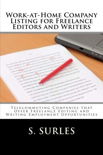 Download Work at Home Company Listing for Freelance Editors and Writers Book