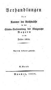 Verhandlungen der Kammer der Reichsräthe des Königreichs Bayern: Band 12
