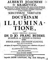 Scrutinium veritatis quoad doctrinam de illuminatione