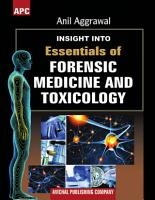 APC Insight Into Essentials of Forensic Medicine and Toxicology PDF
