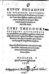 Epigrammata ut uetustissima, ita pijssima, quibus omnia utriusq[ue] testamenti capita comprehenduntur (etc.)