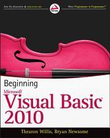 Beginning Visual Basic 2010 PDF