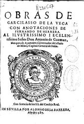 Obras de Garcilasso de la Vega con anotaciones de Fernando de Herrera ...