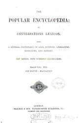 The Popular Encyclopedia Or Conversations Lexicon Ed By A Whitelaw From The Encyclopedia Americana  Book PDF
