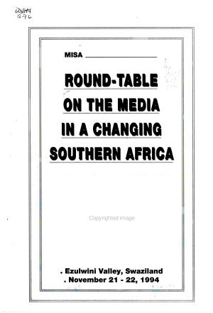 Roundtable on the Media in a Changing Southern Africa PDF