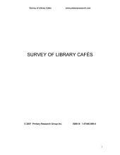 Survey of Library Cafés