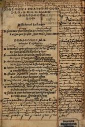 Dialogus Platynae contra amores et amatorculos