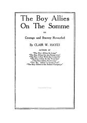 The Boy Allies on the Somme, Or, Courage and Bravery Rewarded