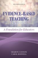 Evidence Based Teaching in Nursing PDF
