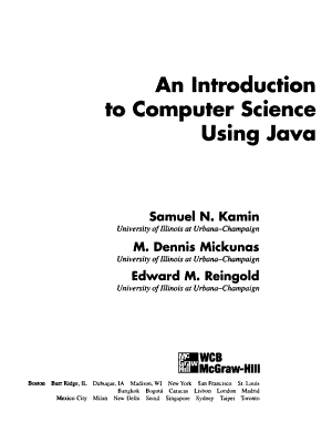 An Introduction to Computer Science Using Java PDF