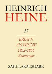 Briefe an Heine 1852-1856. Kommentar